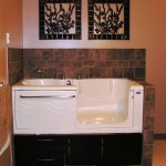 Safety Plus Active Living Spa - Dark Maple Veneer Cabinets and Right Hand Door