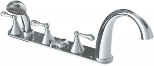 Slide in bathtub basic fixtures.