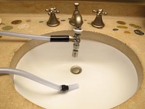 shower bay faucet hookup