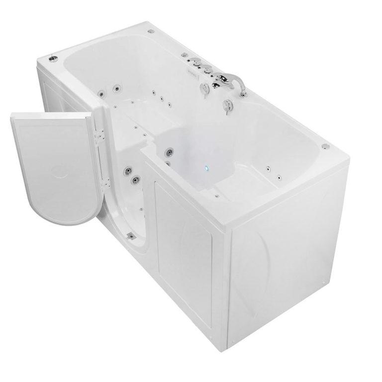 big4two bathtub with door open
