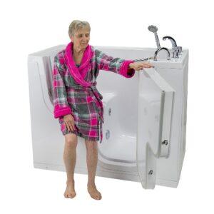 Transfer26 walk in tub woman on seat